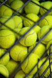 Tennis Balls at the Mediolanum Tennis in Milan