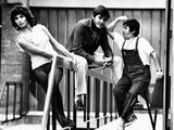 Paola Pitagora and Gianni Morandi on the Set of Jacopone