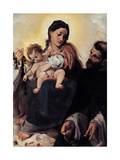 Madonna with Child and St Dominic (Madonna of Rosary)