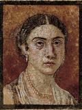 Portrait of a Pompeian Matron (Woman's Portrait)  1st Century  Mosaic Floor