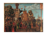 Legend of St Ursula Meeting and Departure of the Betrothed