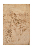 Drawing  Madonna and Child with the Young St John