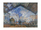 Saint Lazare Station  by Claude Monet  1877 Musee d'Orsay  Paris  France