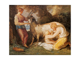 Jupiter Fed by the Goat Amalthea