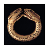 Gold Ring with Snake Heads  Roman 1st c National Archaeological Museum  Naples  Italy