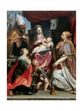 Madonna with Child  Young St John  Sts Benedict  Margaret & Cecilia
