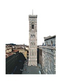 Bell tower of Santa Maria del Fiore Cathedral  1334-1360 Florence  Italy