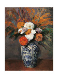 Dahlias  by Paul Cezanne  ca 1873 Musee d'Orsay  Paris  France