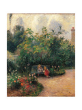 Corner of the Garden at the Hermitage  by Camille Pissarro  1877
