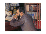 Portrait of Henri Cordier  by Gustave Caillebotte  ca 1883 Musee d'Orsay  Paris  France