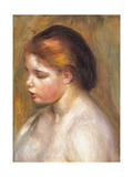 Bust of a Nude Young Girl