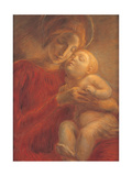 Madonna and Child  by Gaetano Previati  1895 Italy