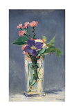 Carnations and Clematis in a Crystal Vase  by Edouard Manet  ca 1882 Musee d'Orsay  Paris