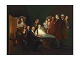 Family of Luis de Borbon Posing