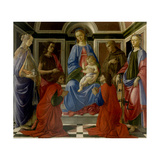 Madonna and Child Enthroned  with Saints by Botticelli  c 1470 Uffizi Gallery  Florence  Italy