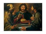 Gioacchino Assereto  The Supper in Emmaus  17th c Private collection