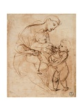 Drawing  Madonna and Child with St John