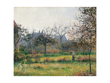 Woman in an Orchard  Autumn Morning  Garden at Eragny