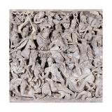 Portonaccio Sarcophagus  180-190 AD Ancient Roman statue Palazzo Massimo  Rome  Italy
