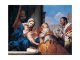 Adoration of the Magi  Giulio Carpioni  17th c Private Collection