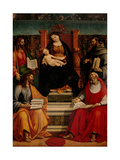 Madonna Enthroned with Child and Saints  Luca Signorelli  1507 Brera Gallery  Milan  Italy