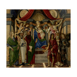 Altarpiece of San Barnabas  Virgin  Child  & Saints  by Botticelli  1487 Uffizi  Florence  Italy