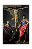 Jesus Christ Crucified between St Catherine of Alexandria and St Julius