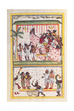 Wedding scenes Drawing of Indian subject commissioned by Niccolao Manucci 18th c
