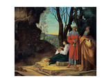 Three Philosophers  by Giorgione  1507-1510 Kunsthistorisches Museum  Vienna  Austria