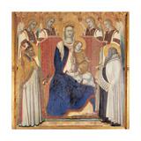 Carmine Altarpiece  Enthroned Virgin and Child