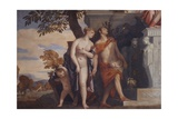 Venus and Mercury introducing to Jupiter their son Anteros