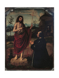St John the Baptist and a Donor