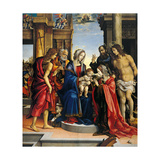 Mystical Marriage of St Catherine with Sts Paul  Sebastian Peter & John  1501San Domenico Bologna