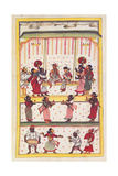 Wedding scene Drawing of Indian subject commissioned by Niccolao Manucci 18th c