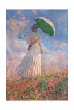 Woman with a Parasol Turned to the Right  by Claude Monet  1886 Musee d'Orsay  Paris  France