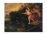 Pan and Syrinx  copy from Peter Paul Rubens