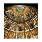 Mosaics by Pietro Cavallini  c 1291  in Santa Maria in Trastevere Church  Rome  Italy