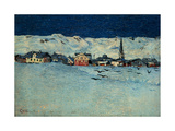 Winter View of Savognino by Giovanni Segantini  1890 Milan  Italy