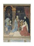 Annunciation with St Thomas & Cardinal Oliviero Carafa