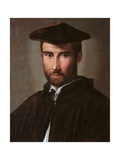 Portrait of a Man (Clergyman)  Parmigianino  c 1526 Borghese Gallery  Rome  Italy