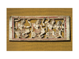 Indian Ivory Carving with Dancers  13th c Bargello National Museum  Florence  Italy