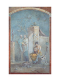 Child Dionysus  Leukothea and the Nymphs of Nysa  1st c AD Ancient Roman painting Rome