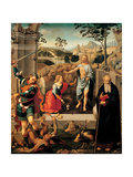 Noli Me Tangere  Christ appearing to Mary Magdalene  with Saints