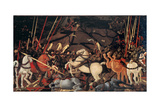 Rout of St Roman (Battle of St Roman) by Paolo Uccello  c 1436-1439  Uffizi Gallery  Florence