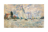 Regattas at Argenteuil  by Claude Monet  ca 1874 Musee d'Orsay  Paris  France