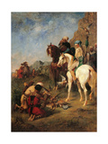 Falcon Hunting in Algeria  by Eugene Fromentin  1863 Musee d'Orsay  Paris  France