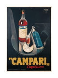 Poster Advertising Campari l'aperitivo