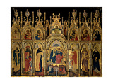 Polyptych of the Coronation of the Virgin and Saints  Jacobello del Fiore  15th c Italy