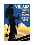 Advertising poster for Villars  Switzerland