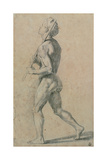 Drawing  Male Nude Walking